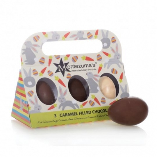 Montezuma's Caramel Filled Chocolate Eggs