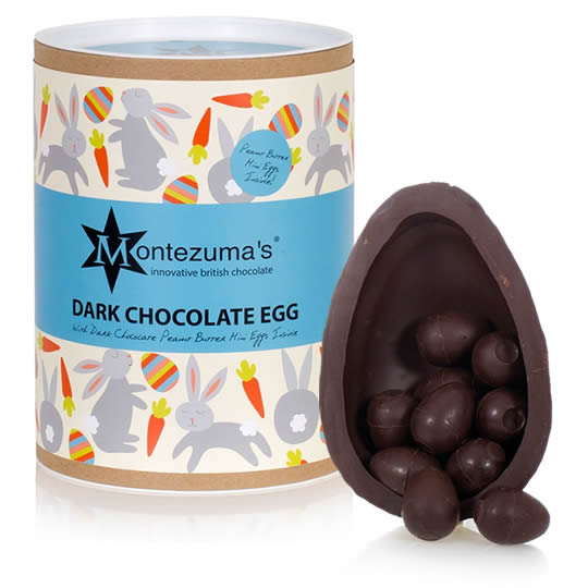 Montezuma's Dark Chocolate Easter Egg with Dark Chocolate Mini Eggs
