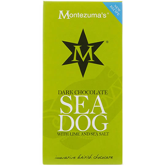 Montezuma's Dark Chocolate Sea Dog with Lime and Sea Salt Chocolate Bar 100g