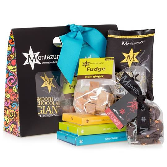 Montezuma's Lord Chocolate Gift Bag, a gift bag of chocolates for men, with spicy chocolates.