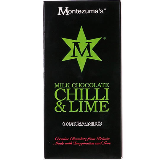 Montezuma's Chilli & Lime Milk Chocolate Bar
