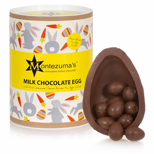 Montezuma's Milk Chocolate Easter Egg with Peanut Butter Mini Eggs