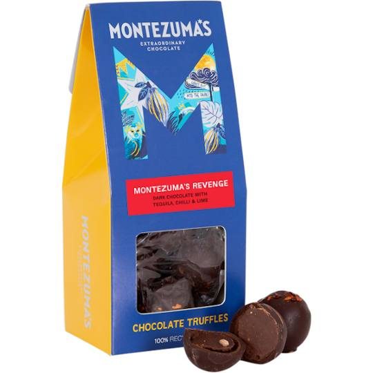 Montezuma's famous and very popular dark chocolate truffles, with chilli, lime and tequila.