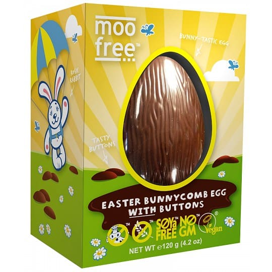 moo free Easter Bunnycomb Easter Egg with Chocolate Buttons