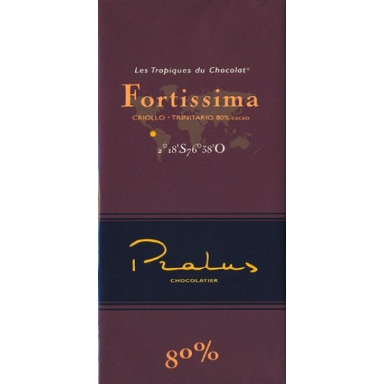 Pralus Fortissima 80% Cocoa Dark Chocolate Bar