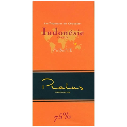 Pralus Indonesie 75% Cocoa Single Origin Chocolate Bar