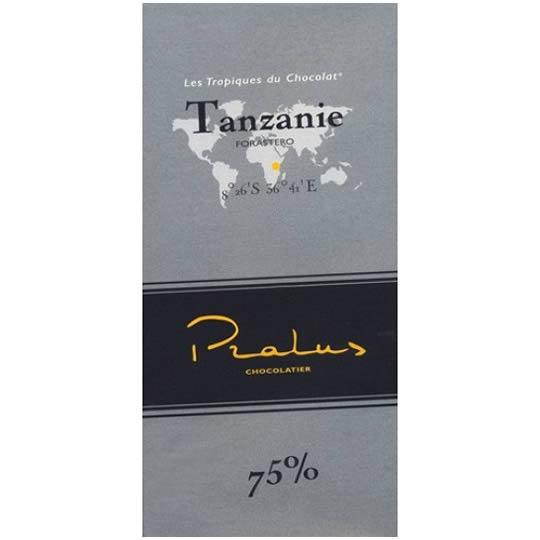Pralus Tanzanie 75% Cocoa Dark Chocolate Bar