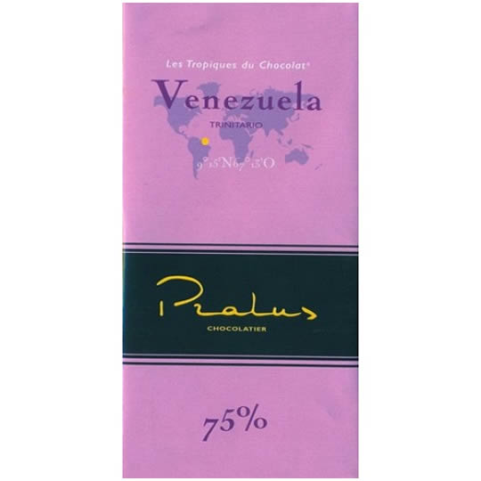 Pralus Venezuela 75% Cocoa Dark Chocolate Bar