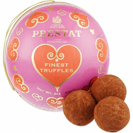 Prestat Pink Heart Chocolate Truffle Bauble
