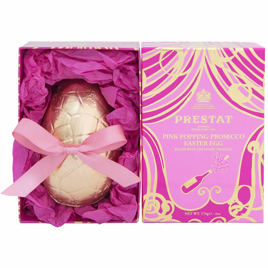 Prestat Pink Popping Prosecco Easter Egg Filled With The Finest Truffles