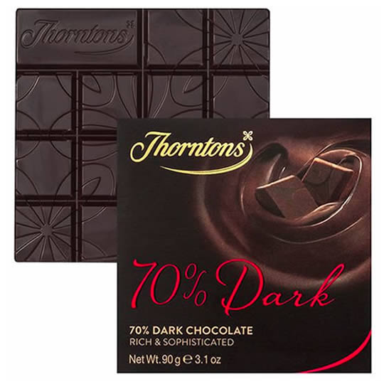 Thorntons Chocolate 70% Dark Chocolate Block