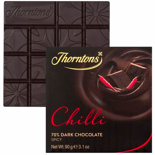 Thorntons Chilli 70% Dark Chocolate Block