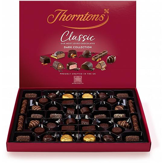 Thorntons' Classic Dark Collection Chocolate Box 444g
