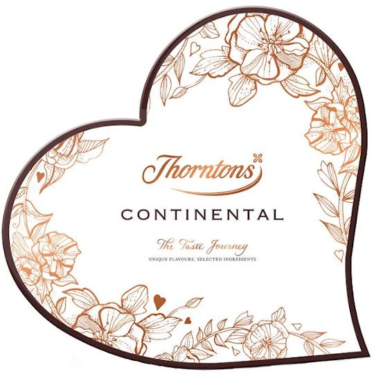 Thorntons Continental Heart Shaped Chocolate Box