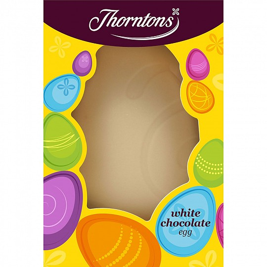 Thorntons Large White Chocolate Easter Egg