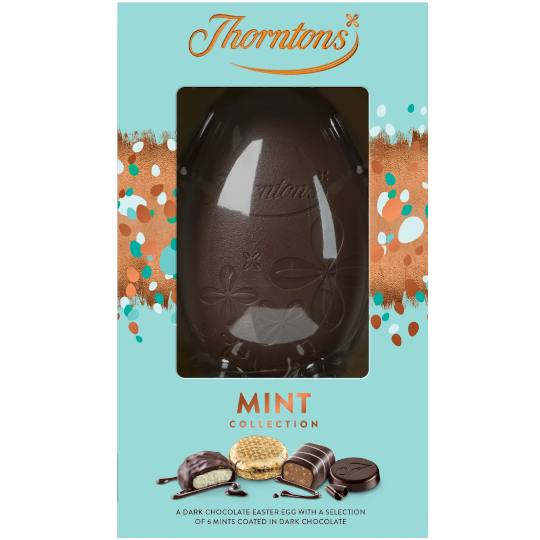 Thorntons Chocolate Dark Mint Chocolate Easter Egg (