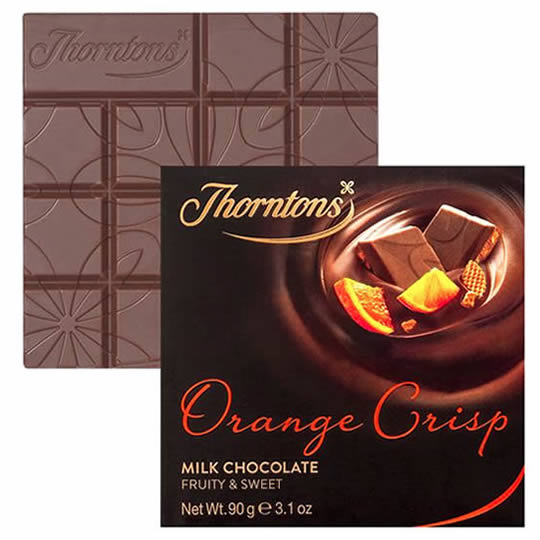 Thorntons Orange Crisp Chocolate Block