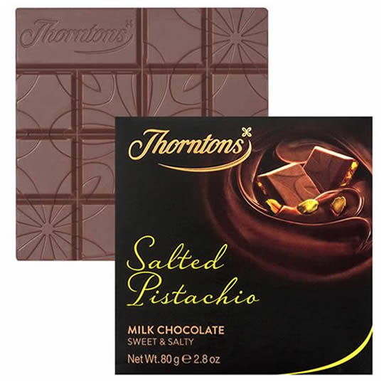 Thorntons Salted Pistachio Chocolate Block