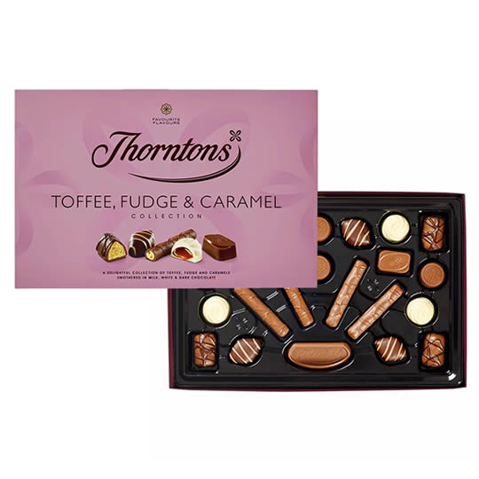 Thorntons Toffee, Fudge & Caramel Collection Chocolate Box