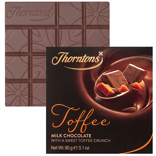 Thorntons Milk Chocolate Block with Special Toffee