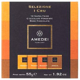 Amedei I Cru 12 Napolitains Single Origin Chocolate Tasting Squares