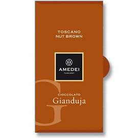 Amedei Toscano Nut Brown Gianduja Milk Chocolate Bar