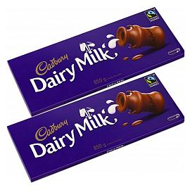 Cadbury Dairy Milk 850g Chocolate Bar Twin Pack