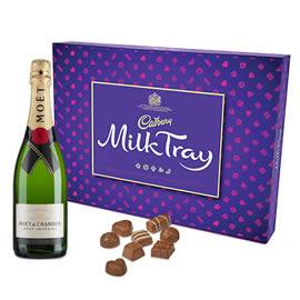 Cadbury Milk Tray with Moet & Chandon Champagne