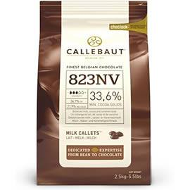 Callebaut 823NV 33.6% Cocoa Milk Chocolate Callets 2.5kg