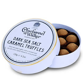 Charbonnel et Walker Dark Sea Salt Caramel Chocolate Truffles 120g