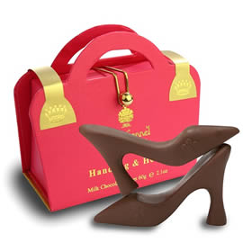 Charbonnel et Walker Handbag & Heels Milk Chocolate Shoes