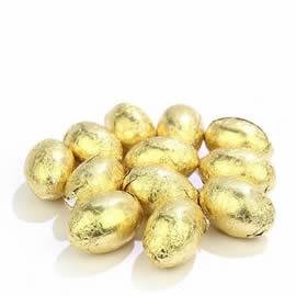 Chocolate Trading Co. Gold Solid Milk Chocolate Mini Eggs