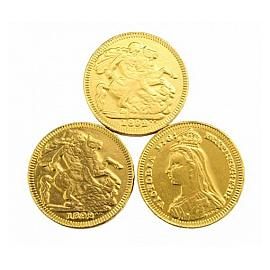 Chocolate Trading Co. Gold Sovereign Chocolate Coins