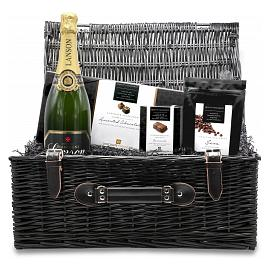 Chocolate Trading Co. Large Chocolate & Champagne Wicker Gift Hamper