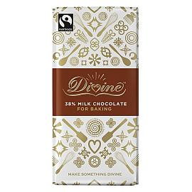 Divine 38% Cocoa Milk Chocolate Bar For Baking 150g