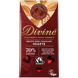 Divine 70% Dark Chocolate Hearts 80g