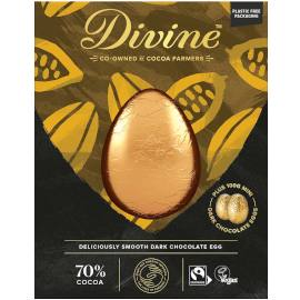 Divine Luxury Dark Chocolate Egg with Dark Chocolate Mini Eggs
