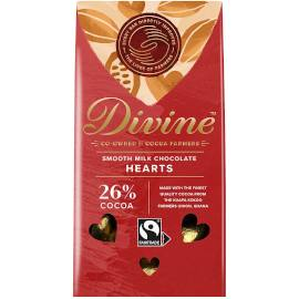Divine Milk Chocolate Hearts 80g