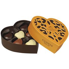 Godiva Coeur Iconique 6 Piece Chocolate Box