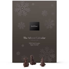 Hotel Chocolat 100% Cocoa Dark Chocolate Advent Calendar