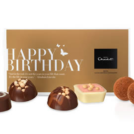 "Hotel Chocolat ""Happy Birthday"" Message Chocolate Box"
