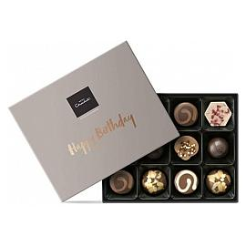 "Hotel Chocolat ""Happy Birthday"" Message Chocolate Gift Box"