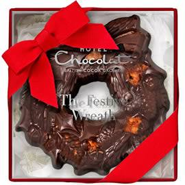 Hotel Chocolat Small Chocolate Christmas Wreath