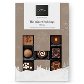 Hotel Chocolat Winter Puddings H-Box Chocolate Box