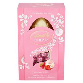 Lindt LINDOR Strawberry & Cream Easter Egg 260g