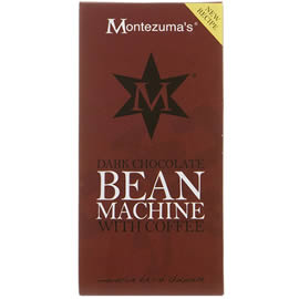 Montezuma's Dark Chocolate Bean Machine With Coffee Chocolate Bar 100g