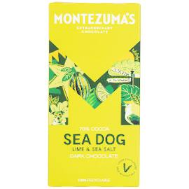 Montezuma's Dark Chocolate Sea Dog with Lime & Sea Salt Chocolate Bar 90g