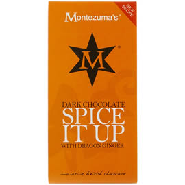 Montezuma's Dark Chocolate Spice it Up with Dragon Ginger Chocolate Bar 100g