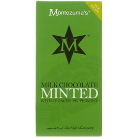 Montezuma's Milk Chocolate Minted with Crunchy Peppermint Chocolate Bar 100g