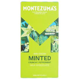 Montezuma's Milk Chocolate Minted with Crunchy Peppermint Chocolate Bar 90g